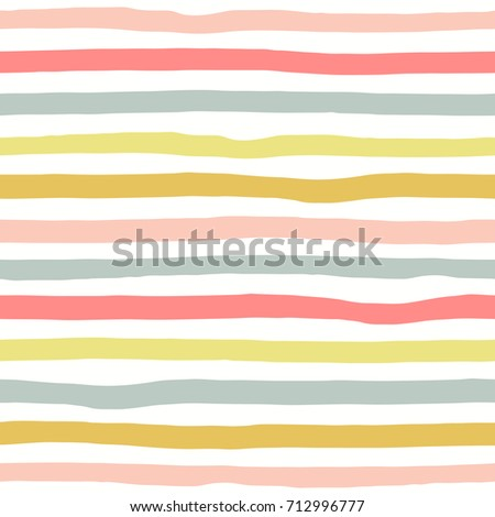 Seamless pattern with color hand drawn stripes