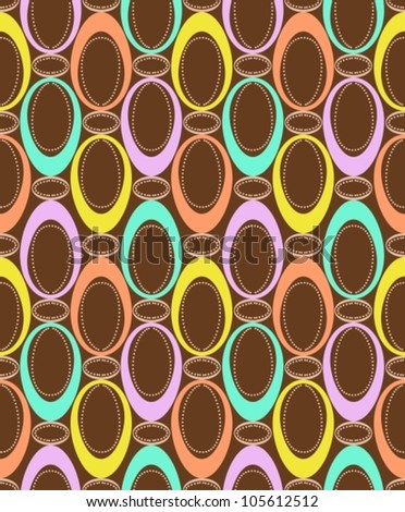 Seamless pattern with color ovals for design, background, vector illustration