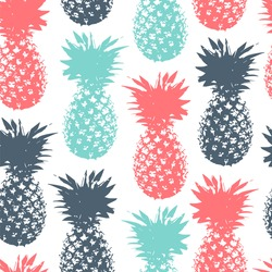 Seamless pattern with color pineapple.