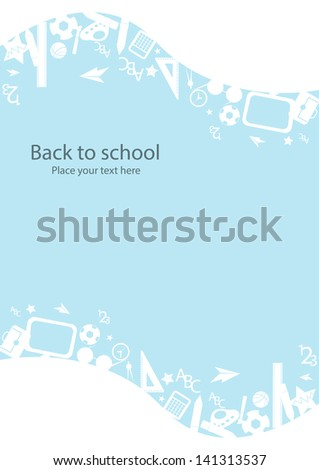 seamless pattern with colorful school icons on background with media icons