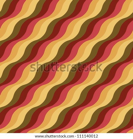 Seamless pattern with colorful wavy stripes. Cheerful texture
