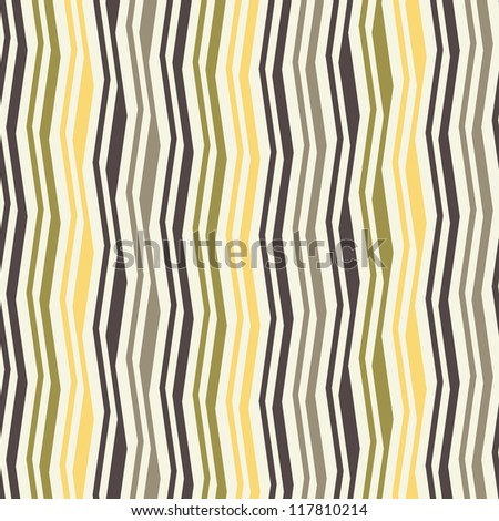Seamless pattern with colorful zigzag stripes. Corrugated texture. Pinstripe print