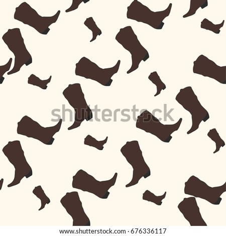 Seamless Pattern with Cowboy Boots. #676336117