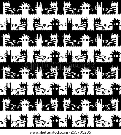 seamless pattern with crazy