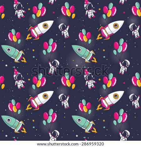 seamless pattern with cute