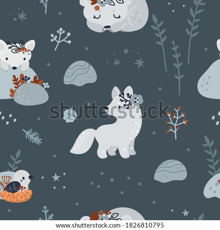 seamless pattern with cute baby