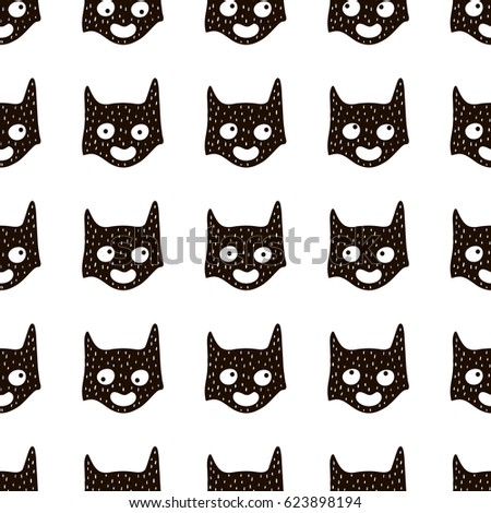 seamless pattern with cute hero