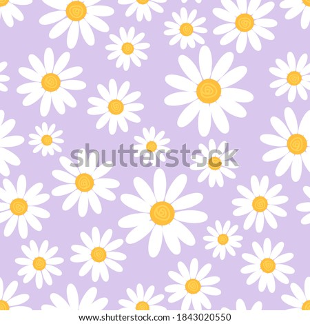 seamless pattern with daisy