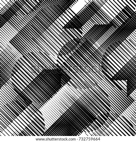 Seamless pattern with diagonal, oblique, slanting parallel speed lines.Triangles  unusual poster Design .Black Vector stripes .Geometric shape. Geometrical Endless texture  .Repeating background .