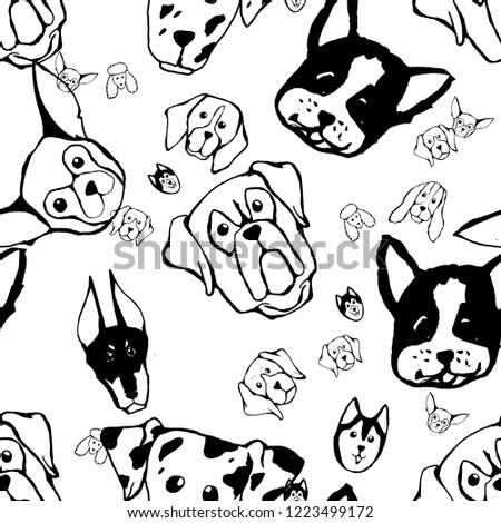 seamless pattern with dog