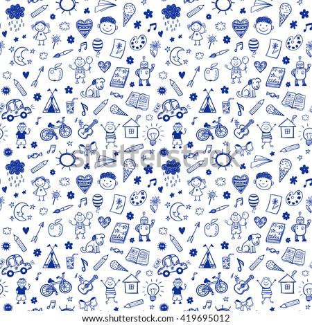 seamless pattern with doodle