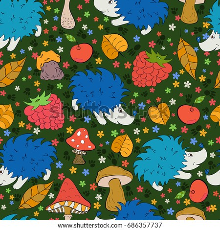 seamless pattern with doodles