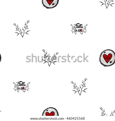 seamless pattern with double