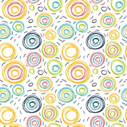 Seamless pattern with drawing a circle. Background can be used for wallpapers, pattern fills, web page backgrounds, scrapbook, surface textures.