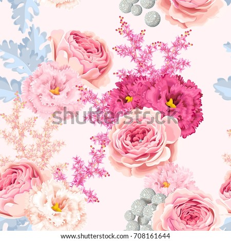 seamless pattern with eustoma