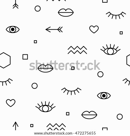 seamless pattern with eyes and
