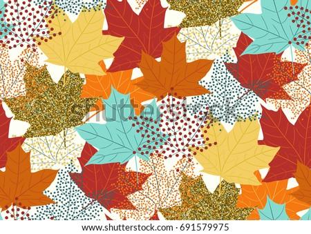 seamless pattern with fall