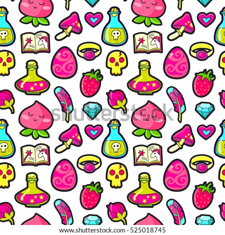 seamless pattern with fashion