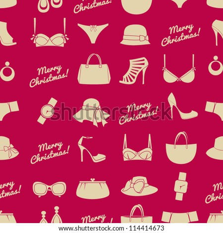 seamless pattern with female