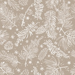 Seamless pattern with fir branches. Christmas and New Year background. Vector illustration.