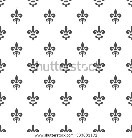 seamless pattern with fleur de