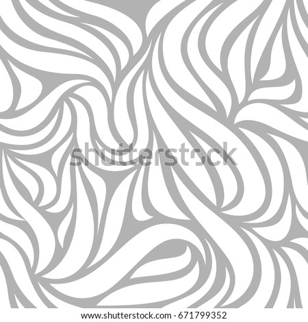 Seamless pattern with floral ornament. Abstract vector background with leaves.