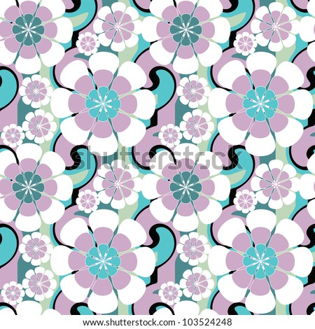 Seamless pattern with flower. Floral background.
