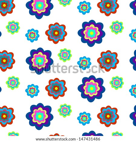 Seamless pattern with flowers. Template for design and decoration, wrapping paper, package, greeting cards etc. #147431486