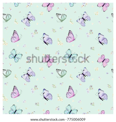 seamless pattern with flying