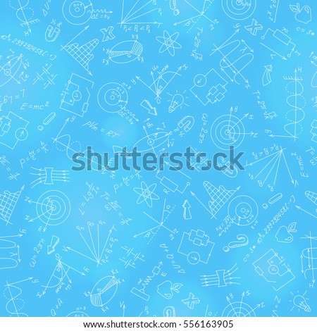 seamless pattern with formulas