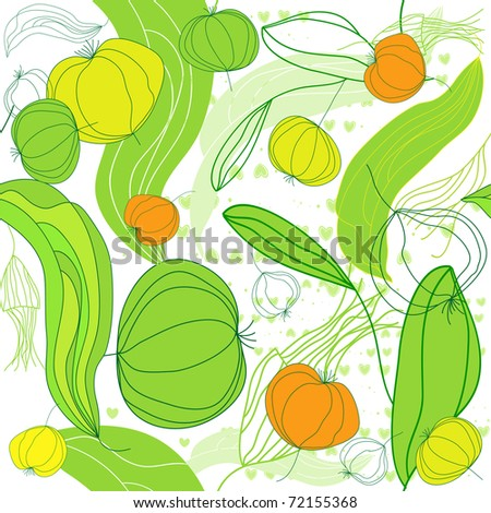 Seamless pattern with fruit.
