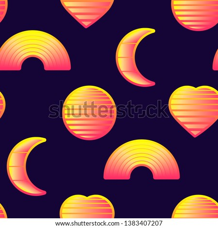 seamless pattern with glowing