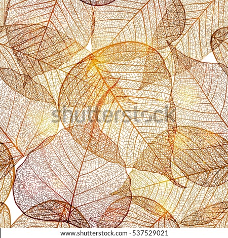 seamless pattern with gold leaf