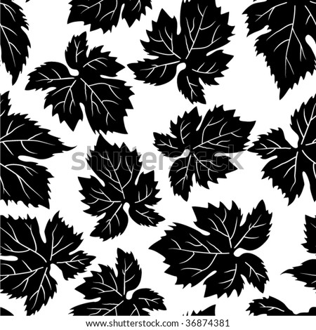 Seamless pattern with grape leafs