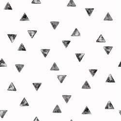 Seamless pattern with grunge black triangles. Vector illustration