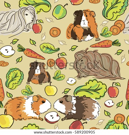 seamless pattern with guinea