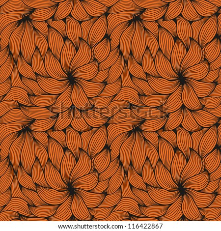 Seamless pattern with hair