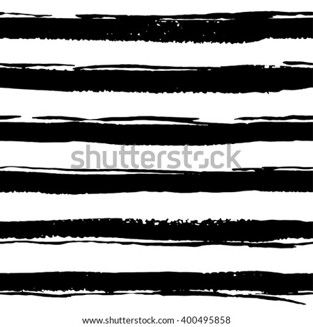 Seamless pattern with hand drawn brush strokes, lines.  Vector illustration #400495858