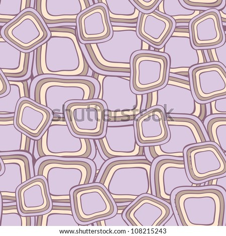 Seamless pattern with hand drawn violet squares