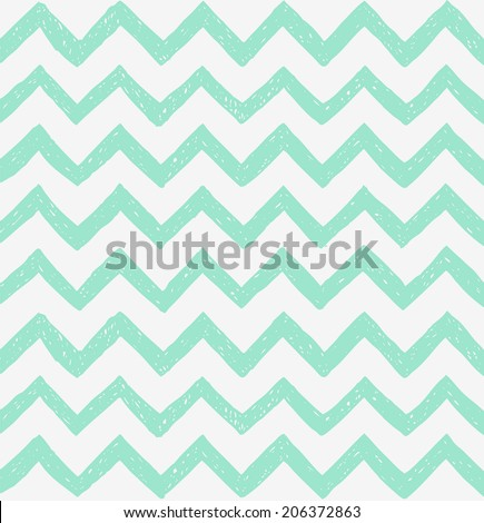 Seamless pattern with hand drawn zig zag. Vector illustration