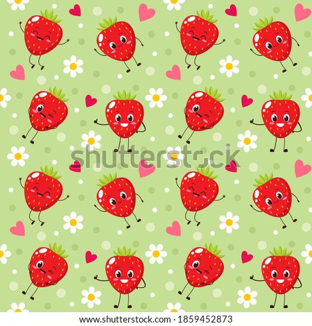 seamless pattern with happy