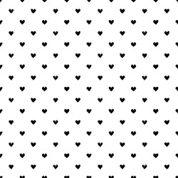 Seamless pattern with hearts. Hand painted pastel crayon. Grunge background. Design element for wallpapers, wedding invitations, birthday card, scrapbooking, fabric print etc. Vector illustration.