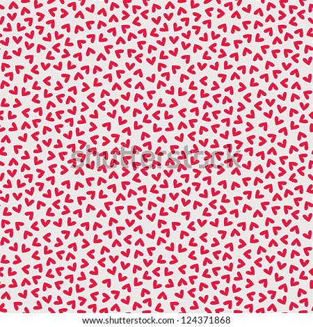 Seamless pattern with hearts Valentines Day background