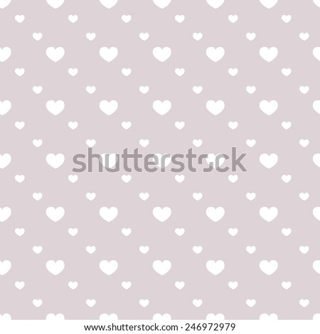 Seamless pattern with hearts. Valentines day background. Vector illustration