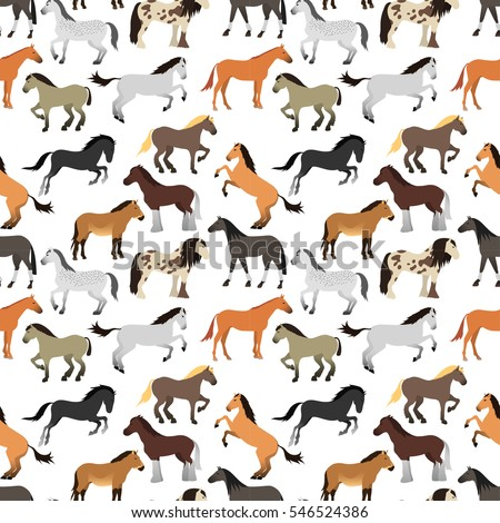 seamless pattern with horse in