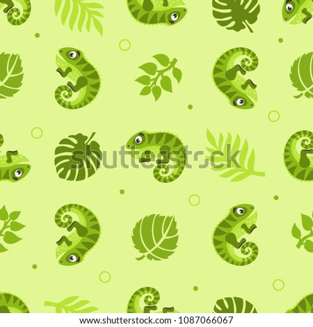 seamless pattern with iguanas