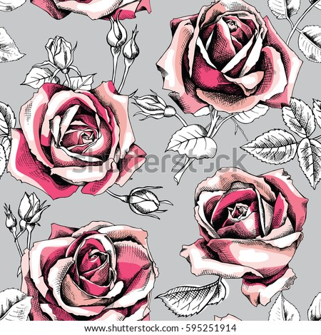 seamless pattern with image of