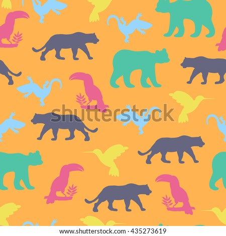 seamless pattern with isolated