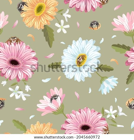seamless pattern with jumping