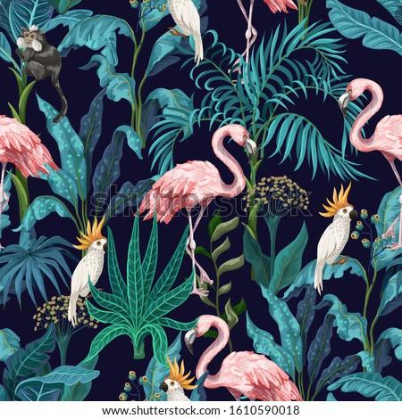 seamless pattern with jungle